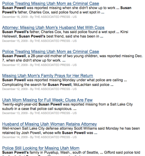 "NYT.com Search Results for ""Susan Powell"""